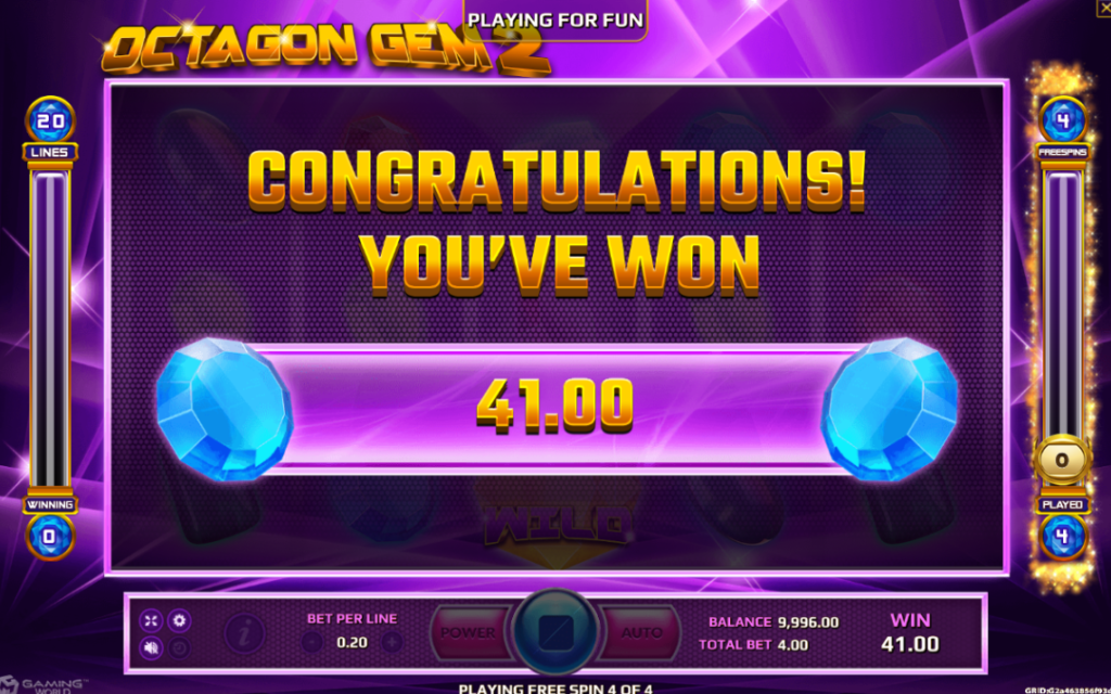 เดิมพันเกม Octagon Gem 2 Slot Joker